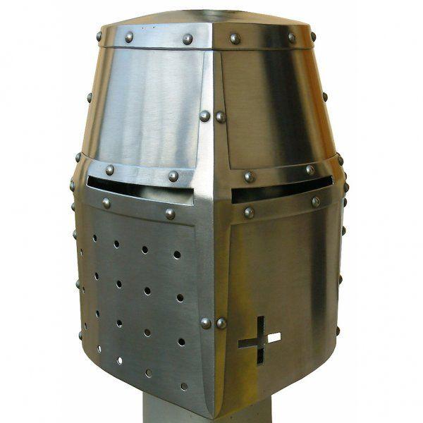 Crusader Great Helm | Helms in 2019 | Medieval armor