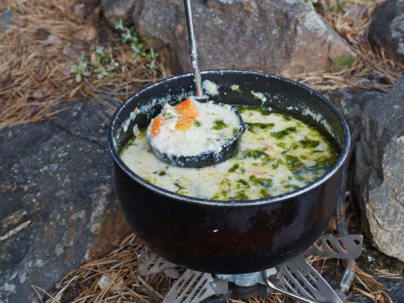 Lohikeitto is one of those simple but delicious soups that's easy to make even when you hiking, camping or backpacking.