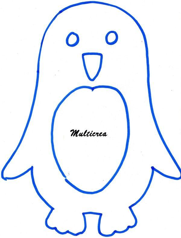 Les pingouins 2 2 manchot pinterest le pingouin gabarit et hiver - Apprendre a dessiner un pingouin ...
