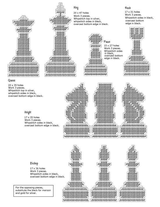 Chess game in plastic canvas | Chess | Pinterest | Ajedrez ...