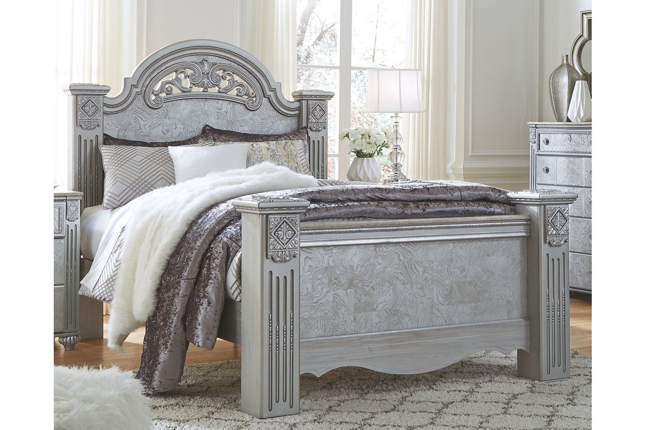 zolena queen poster bed ashley
