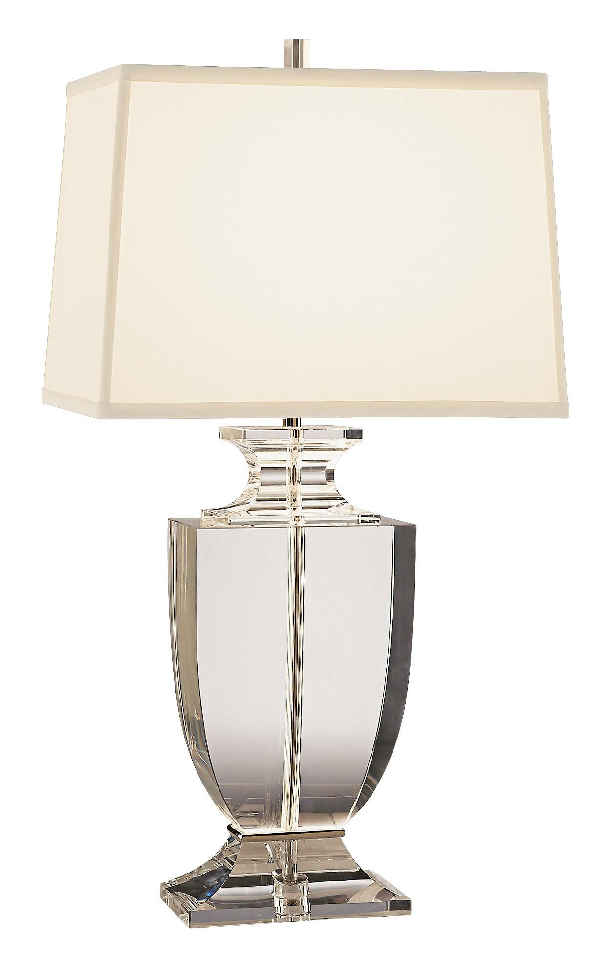 Artemis Clear Lead Crystal Table Lamp With Off White Shade Lampentisch Lampe Vintage Tischlampen