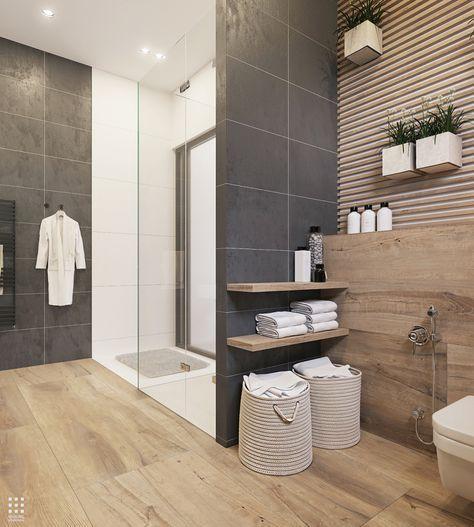 Photo of romslig bad-farge-konsept-gulv-fliser-dusj-badekar-mer-bad-ideer-p …