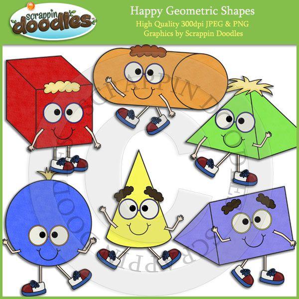 Happy Geometric Shapes Clip Art | My Art | Pinterest | Art ...