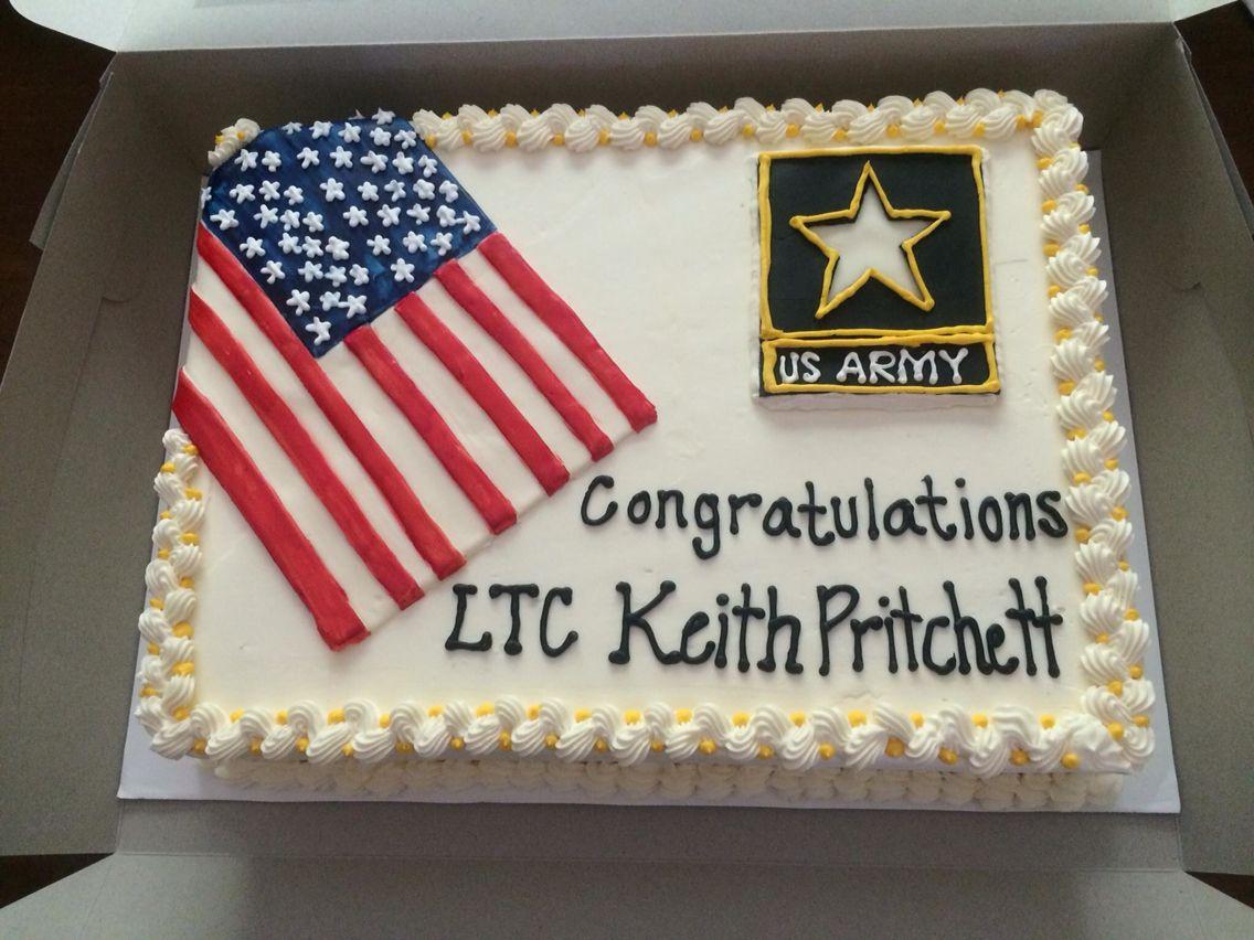 My Husband S Army Retirement Cake By Rachel Mcdonald Retirement