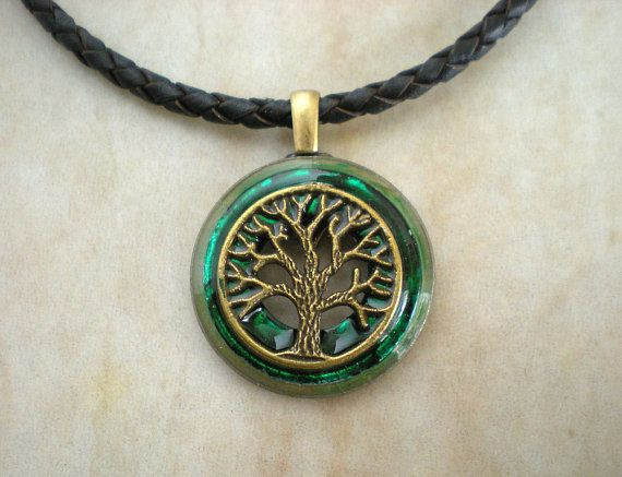 Tree Of Life Necklace Green