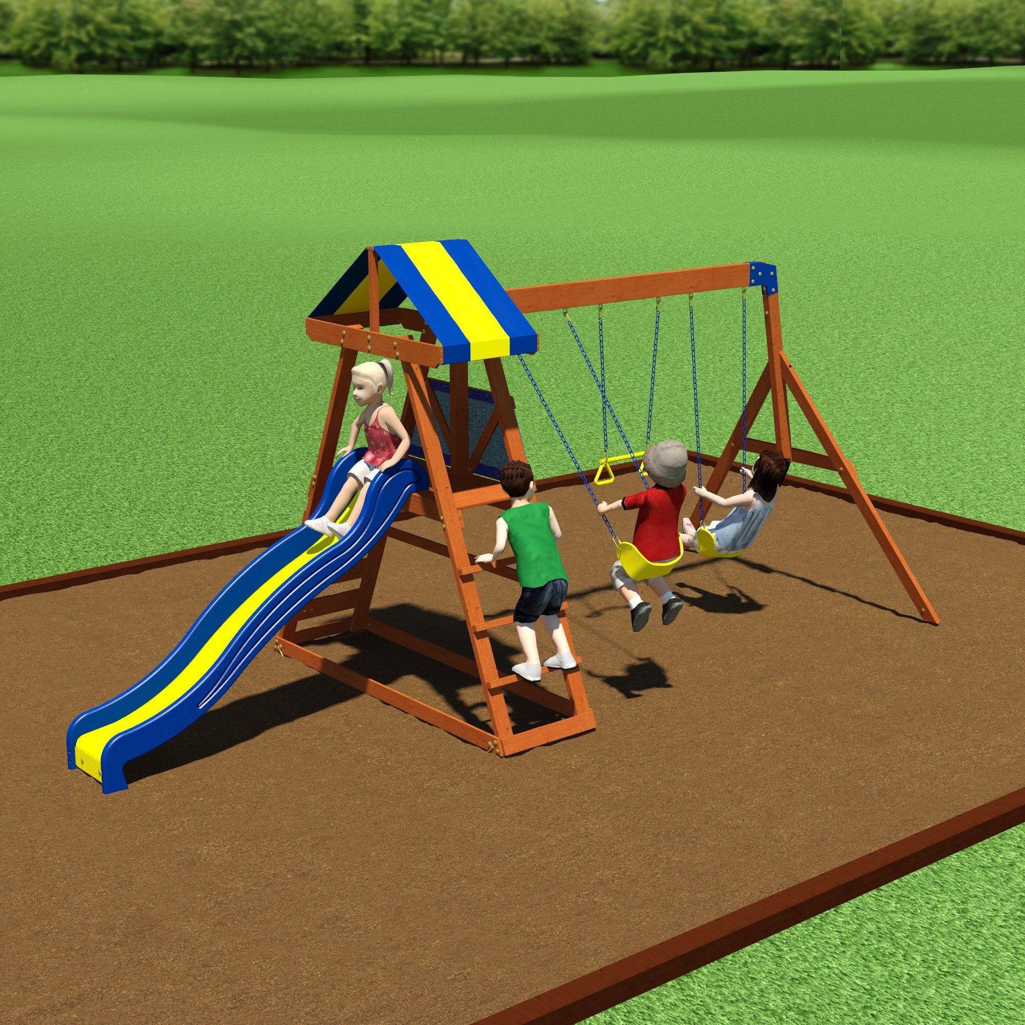 Dayton Wooden Swing Set Baby Pinterest Backyard Swing Sets