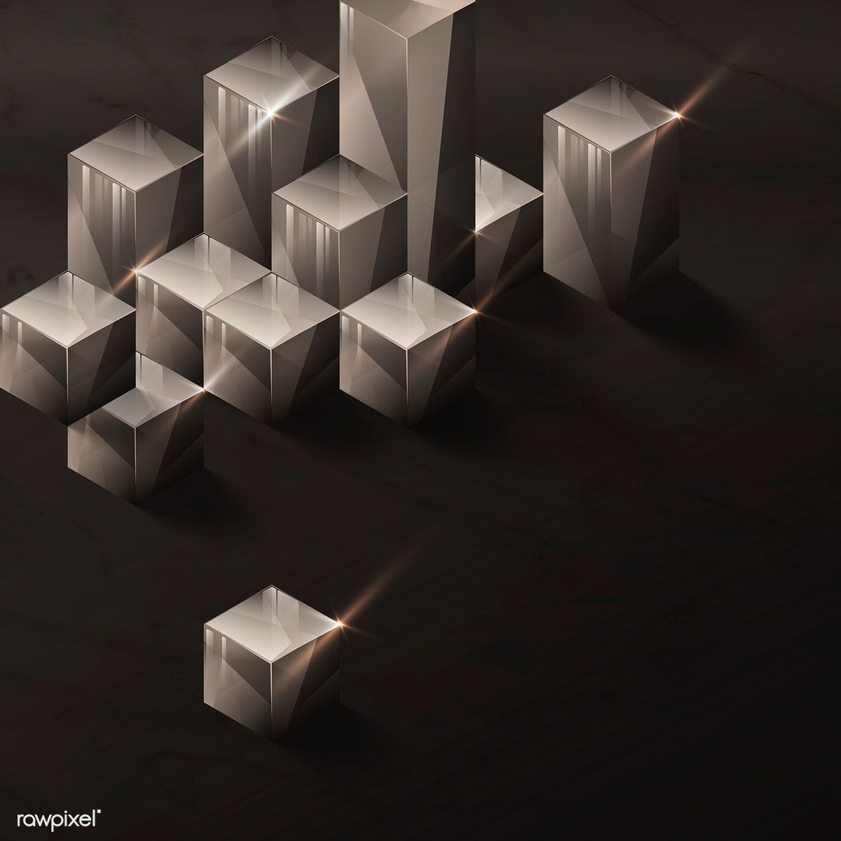 Download Premium Vector Of 3D Cube Abstract Design On
