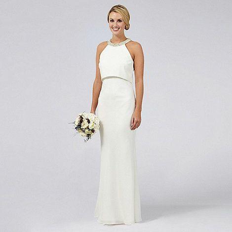 Picture Debenhams A Figure Flattering Sophisticated Wedding Dress I Love The Neckline