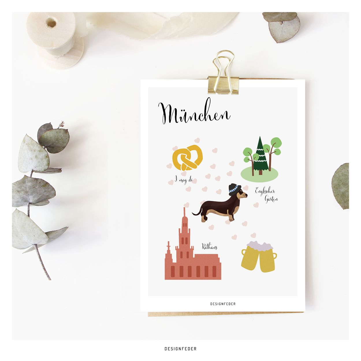 Postcard Favourite City Munich In 2020 Postcard Place Card Holders Prints