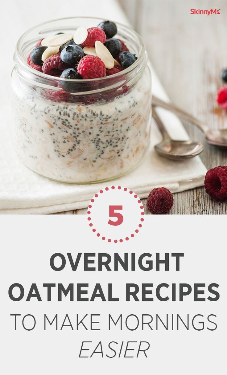 5 overnight oatmeal recipes to make mornings easier