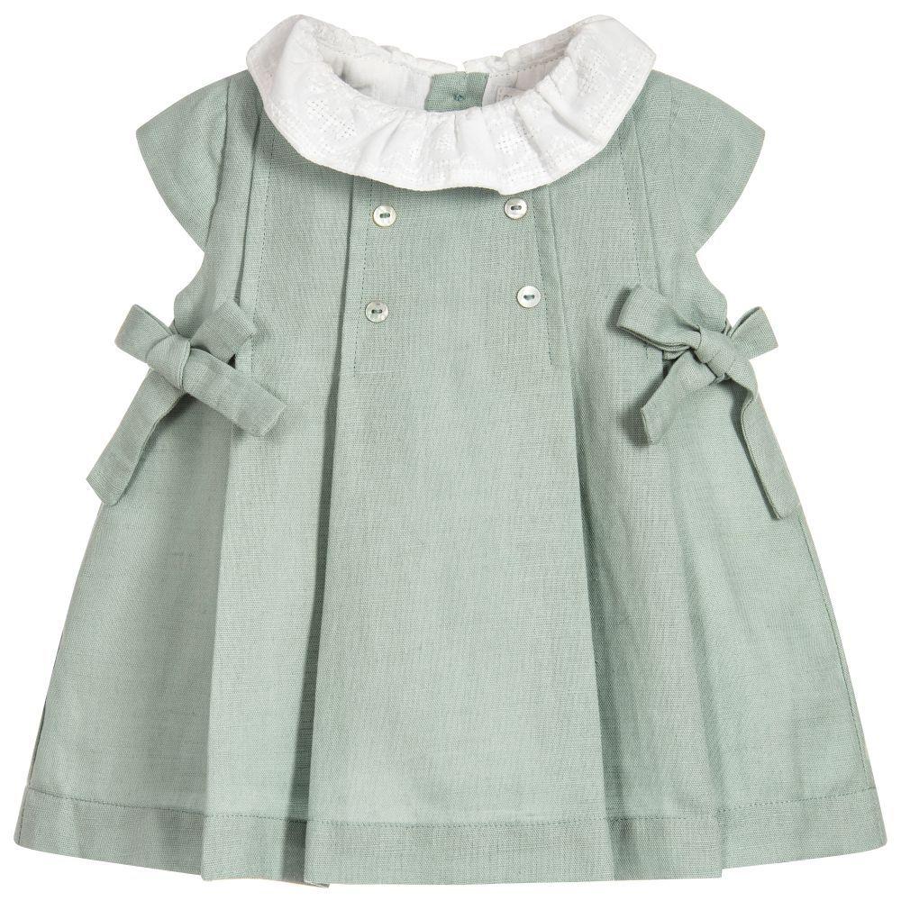 076379c791 Baby Girls Linen Dress Set for Girl by Laranjinha.
