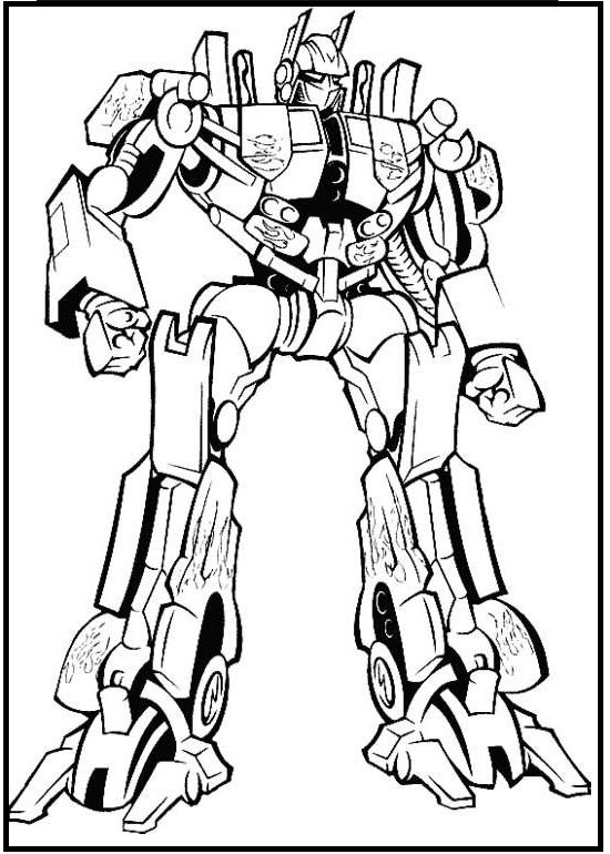Transformers Prime Cartoon Coloring Picture For Kids Transformers