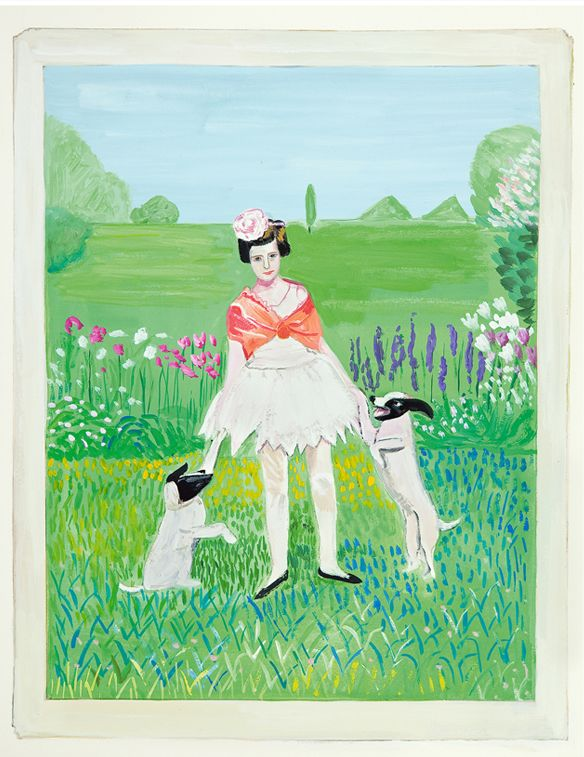Maira Kalman Daniel Handler Girls Standing On Lawns Maira Kalman Art Illustration