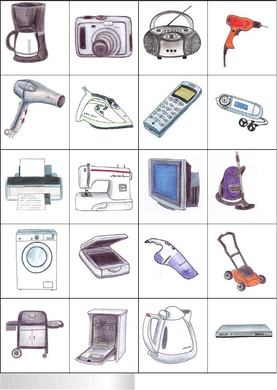 bingo objets de la maison | appui | Pinterest | French ...