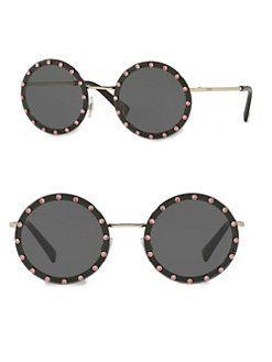 0bc92c967a VALENTINO GARAVANI - 52MM Crystal-Trim Round Sunglasses
