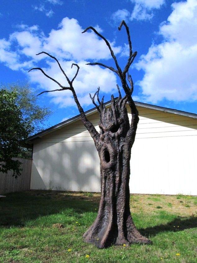 24 Indoor  Outdoor Tree Halloween Decorations Ideas halloween - halloween decoration outside