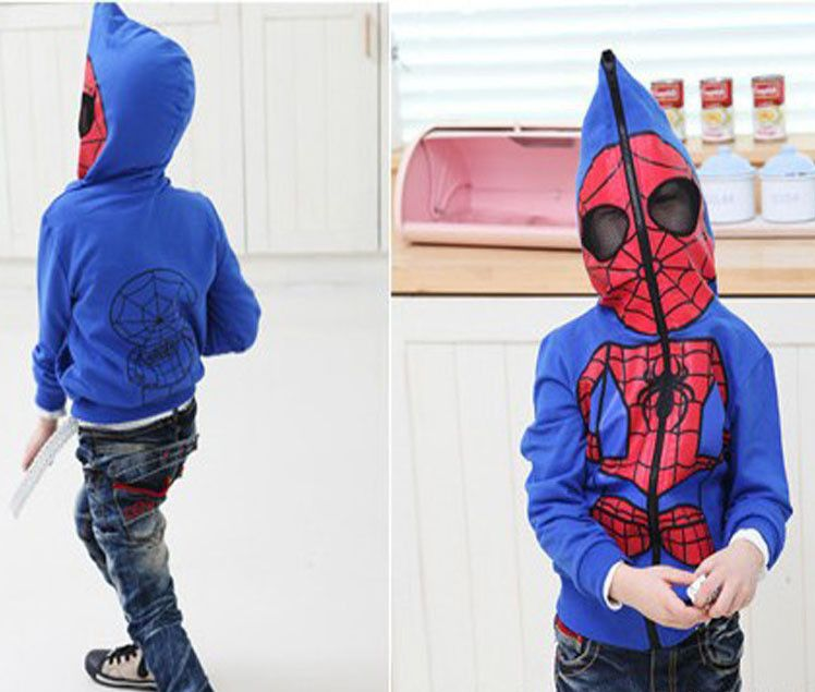 f0c784a7b 2014 New Spring Autumn Spiderman Boy s Outerwear   Coat