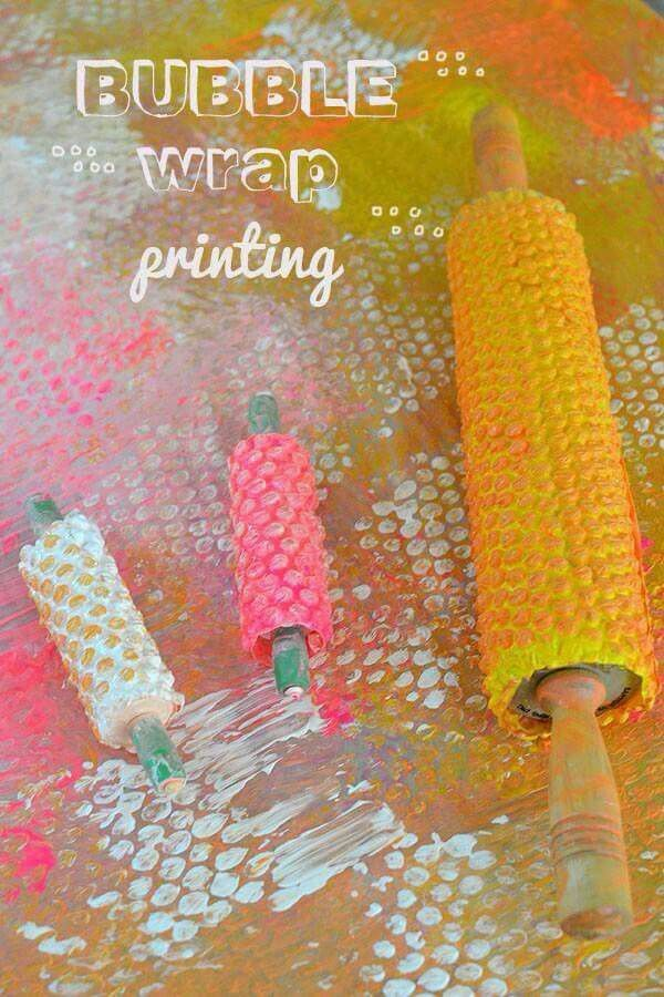 Bubble Wrap Roller Printing Play And Learn Pinterest