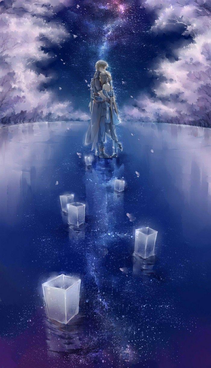 采 ┞liran┦ 收图 Anime galaxy, Anime scenery, Art