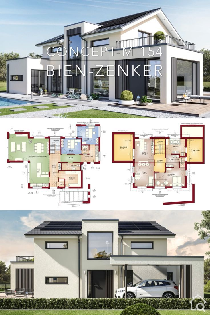 Hausplan Fur Moderne Architektur Innenarchitektur Concept M 154 Modern Architecture House Architectural House Plans Architecture House