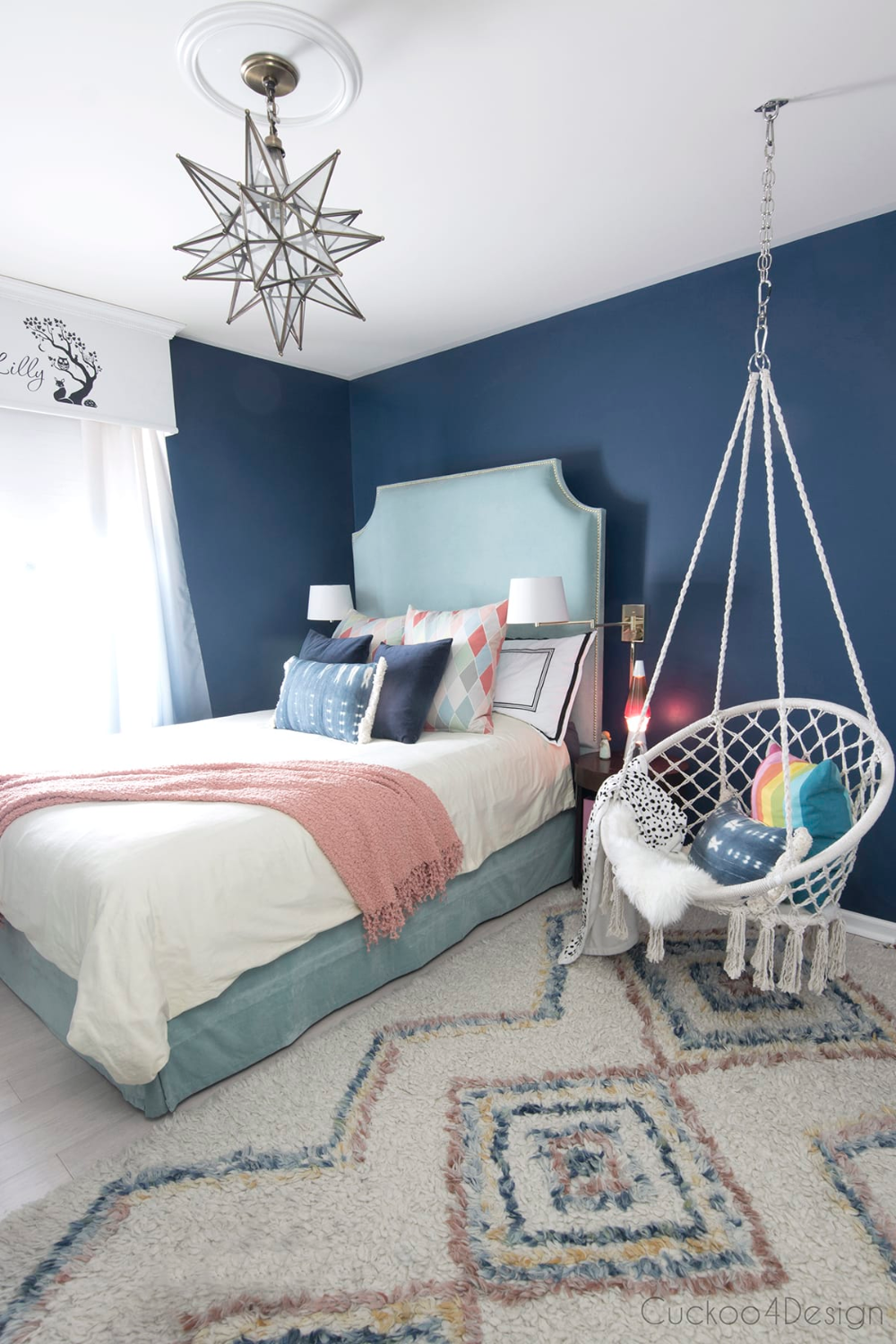 Dark Blue Girls Room In 2020 With Images Kids Bedroom Designs