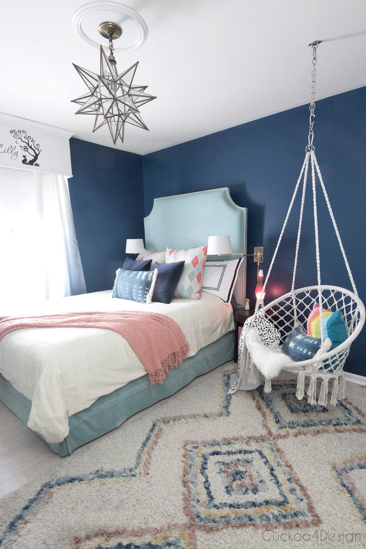 Dark Blue Girls Room In 2020 With Images Kids Bedroom Designs