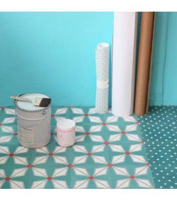 Mooie Vloer Voor De Keuken Carreau De Ciment Helium Vert Canard