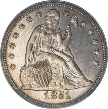 1851 Seated Liberty Dollar Dollar Coin Value Dollar Coin Coins