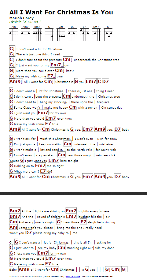 This Christmas Chords.All I Want For Christmas Chords Thecannonball Org