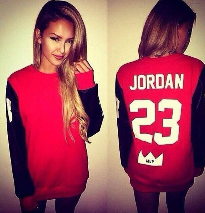 Hot Women Ladies No.23 Jordan Printed Hoodie Sweatshirt Casual Pullover Tops 711903d731ae