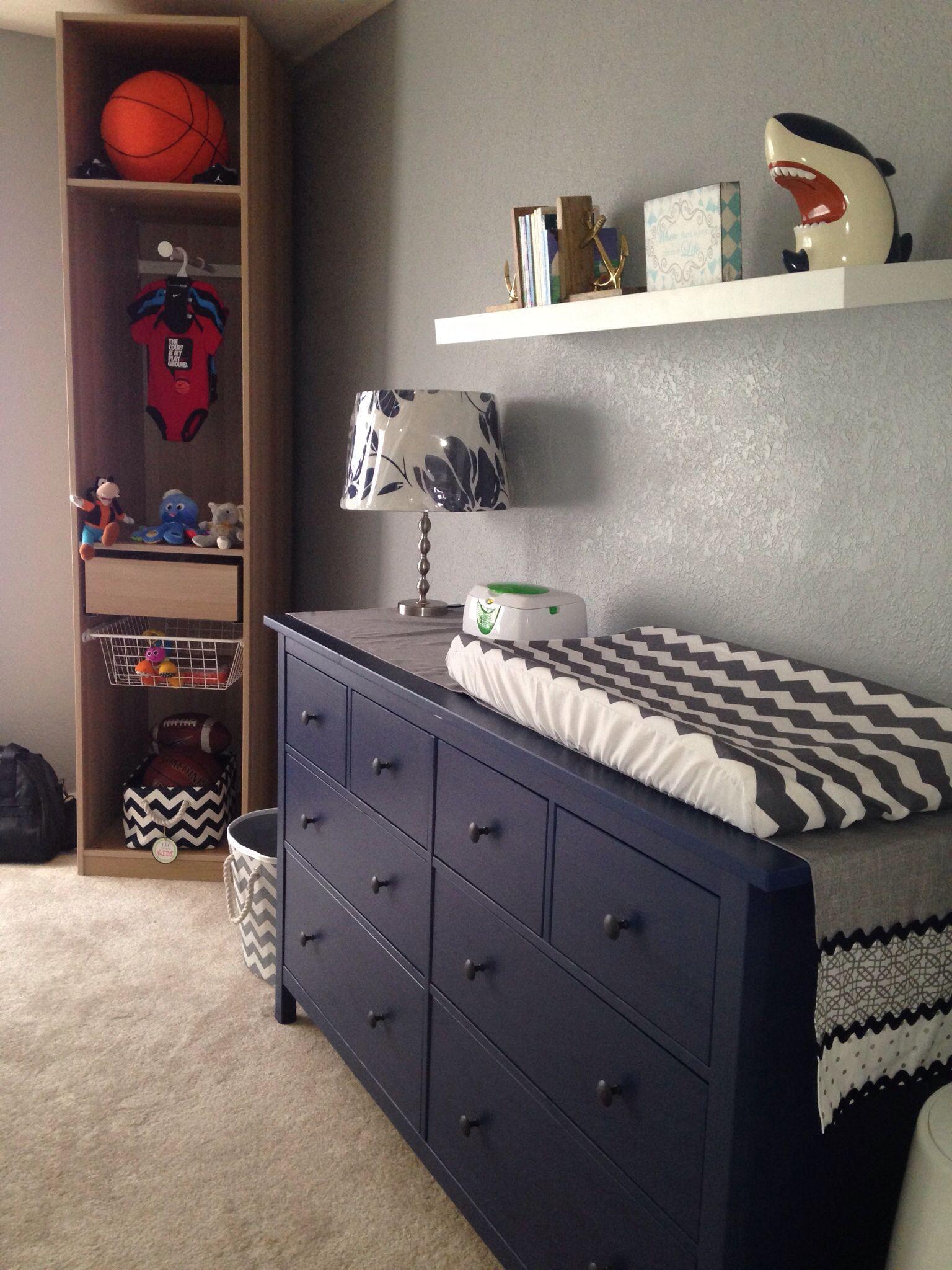 Changing Table Dresser From IKEA Hemnes Blue Dresser