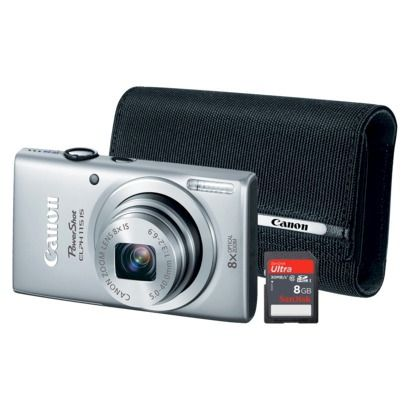 Canon PowerShot Elph 115 16MP Digital Camera with 8x Optical Zoom with Memory Card and Case - Silver on sale for $99 @Target #gift