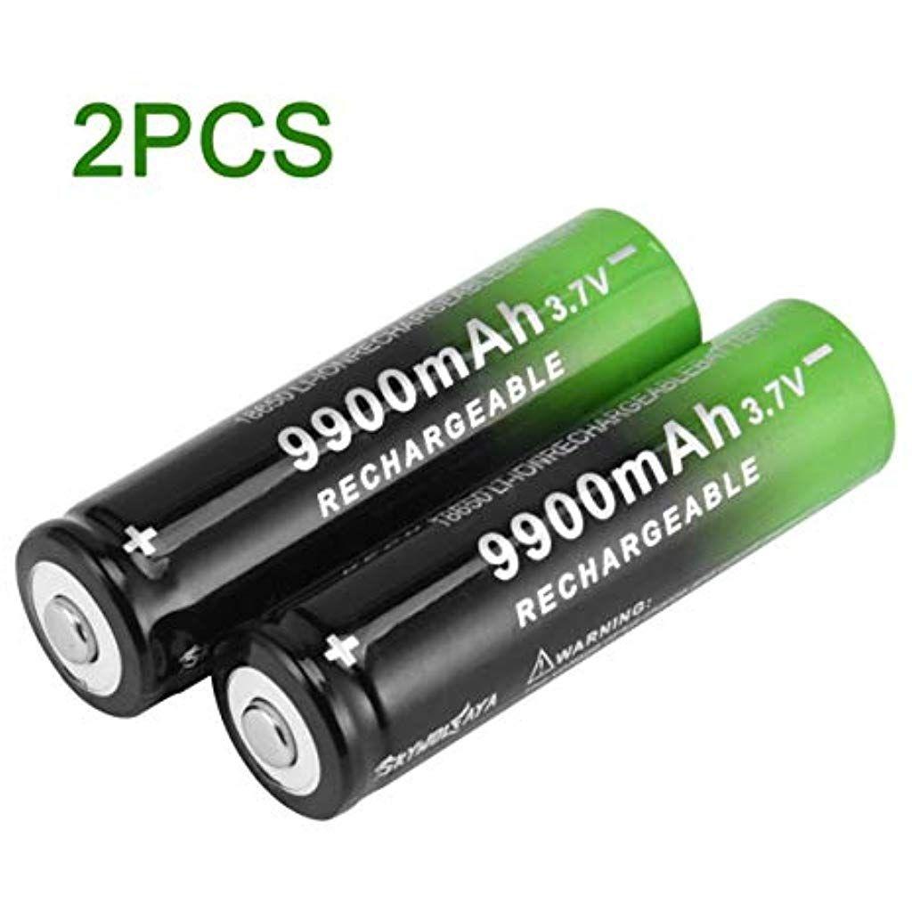 Skywolfaya 3 7v 18650 Lithium Batteries 9900mah Li Ion Chargeur De Batterie Rechargeable Pour Lampe Torche Led Noir Et Lampe Torche Led Torche Led Lampe Torche