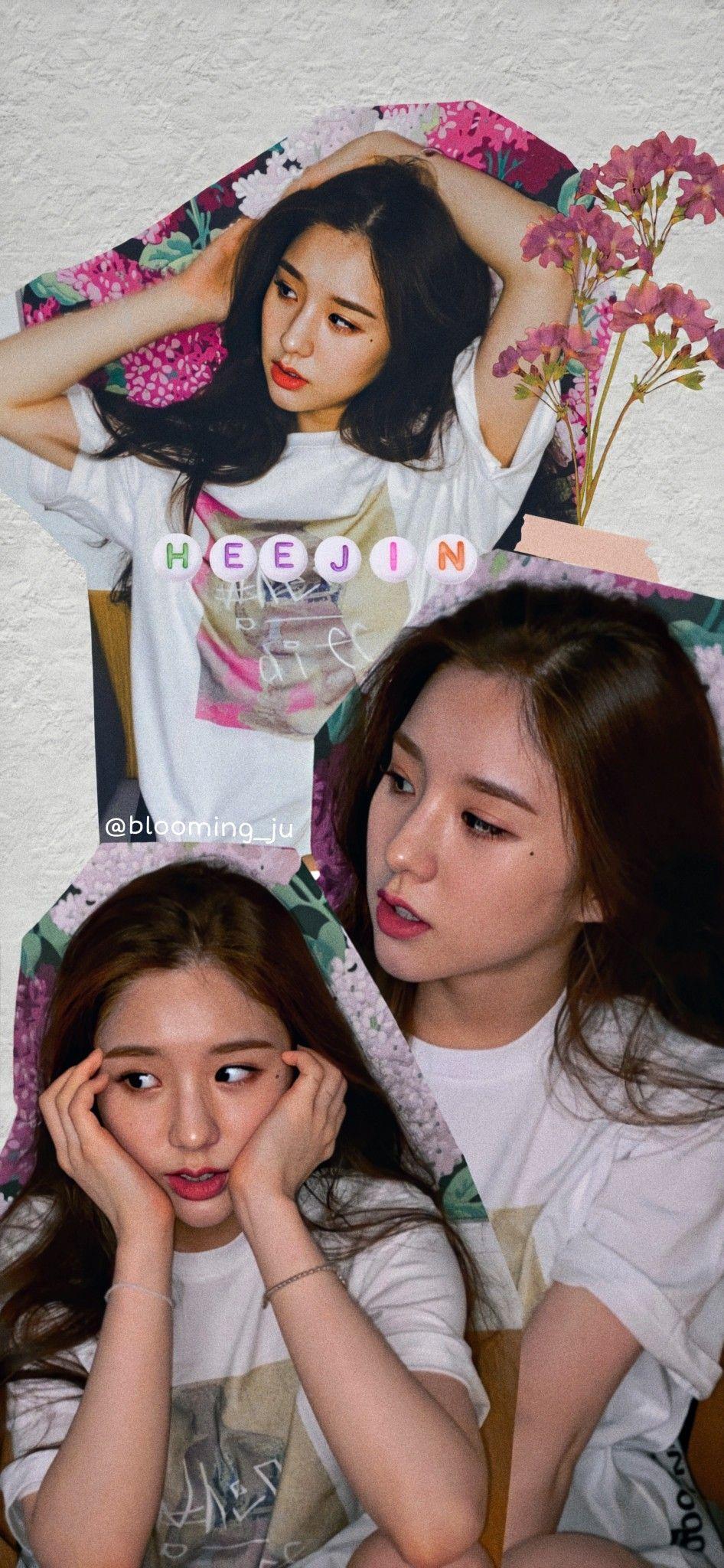 Loona Heejin Lockscreen Kpop Aesthetic Cute Anime Wallpaper Kpop Wallpaper