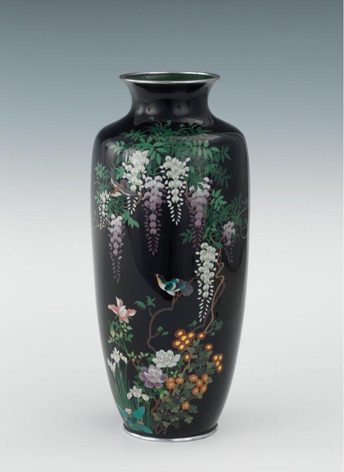 A Japanese Cloisonne Vase Third Mark Of Ota Kichi Cloisonne Meiji