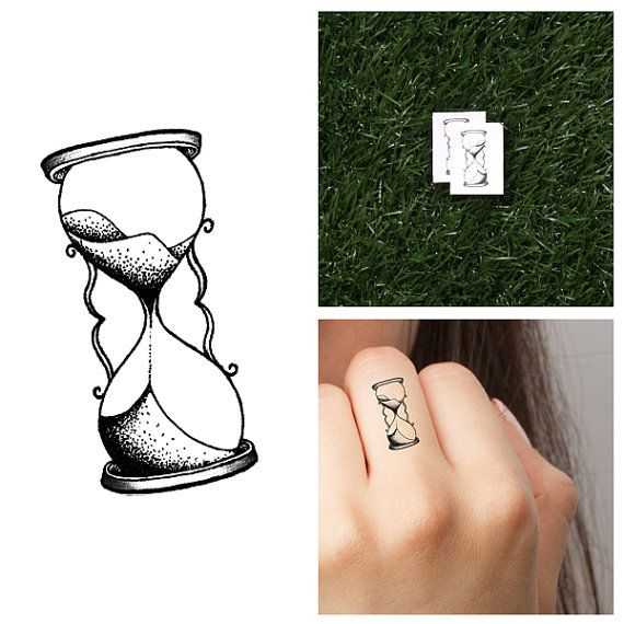 Hourglass Temporary Tattoo Set Of 4 Etsy Tatuaje Reloj De Arena Tatuajes De Moda Tatuajes De Relojes