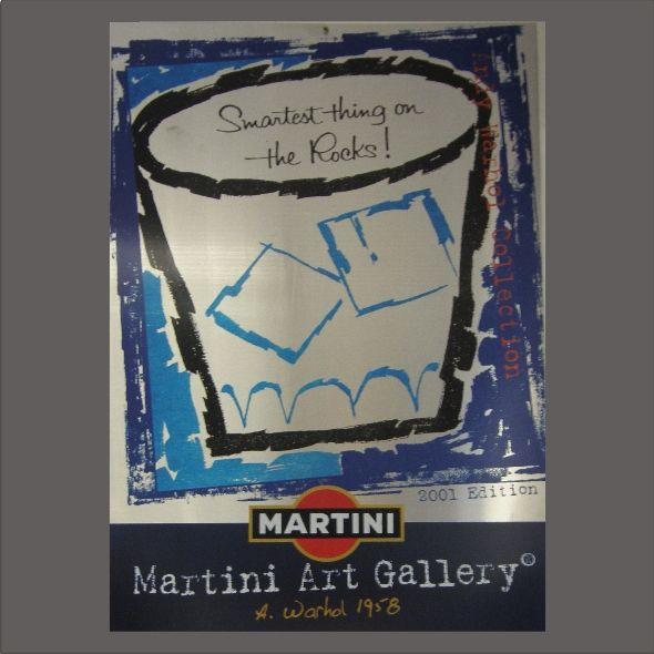 Art MARTINI Bianco ART GALLERY Andy Warhol SERI-GRAFICA RIVETTI.