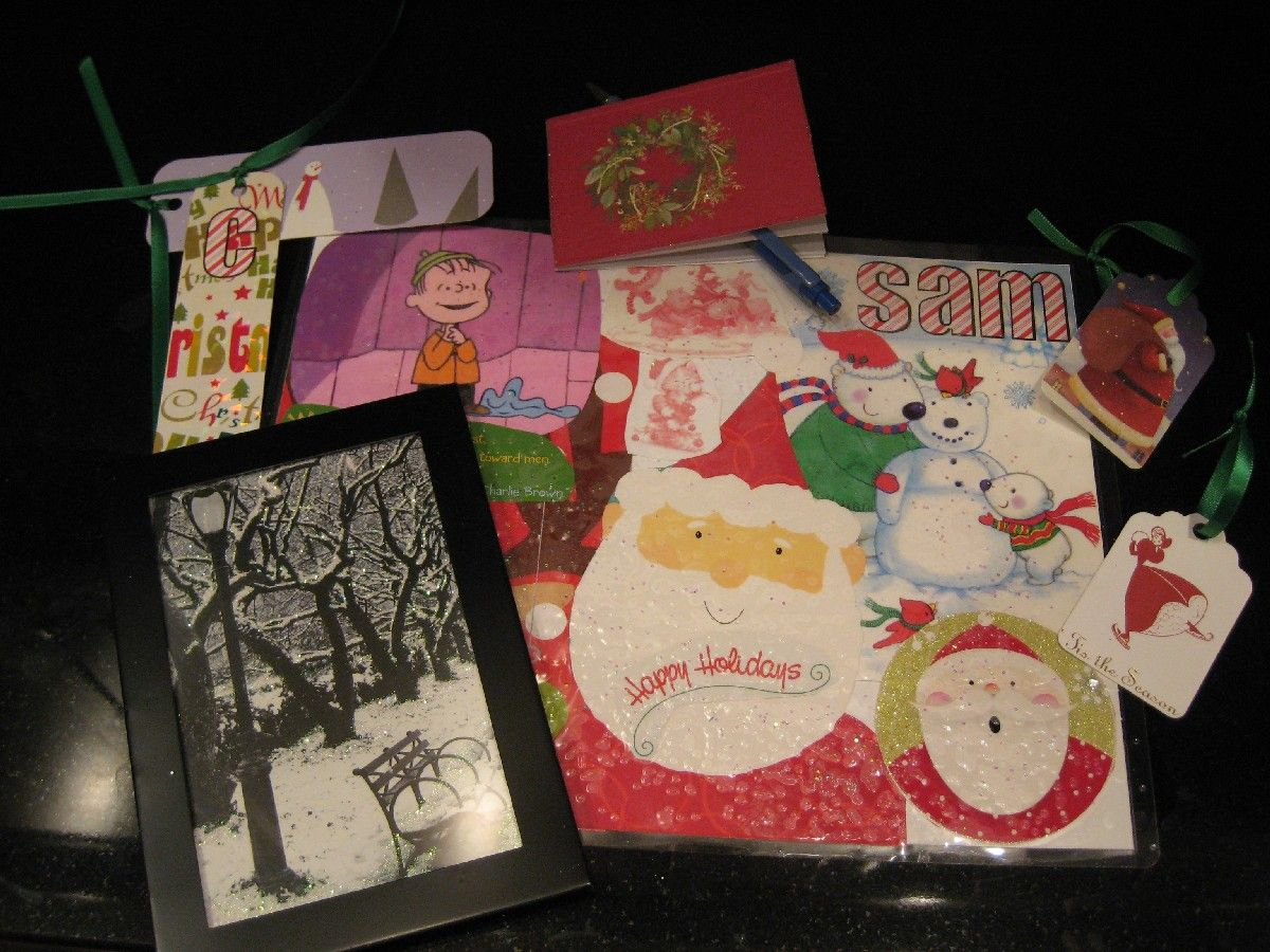 Recycled Christmas cards - A list of great ideas with directions ...