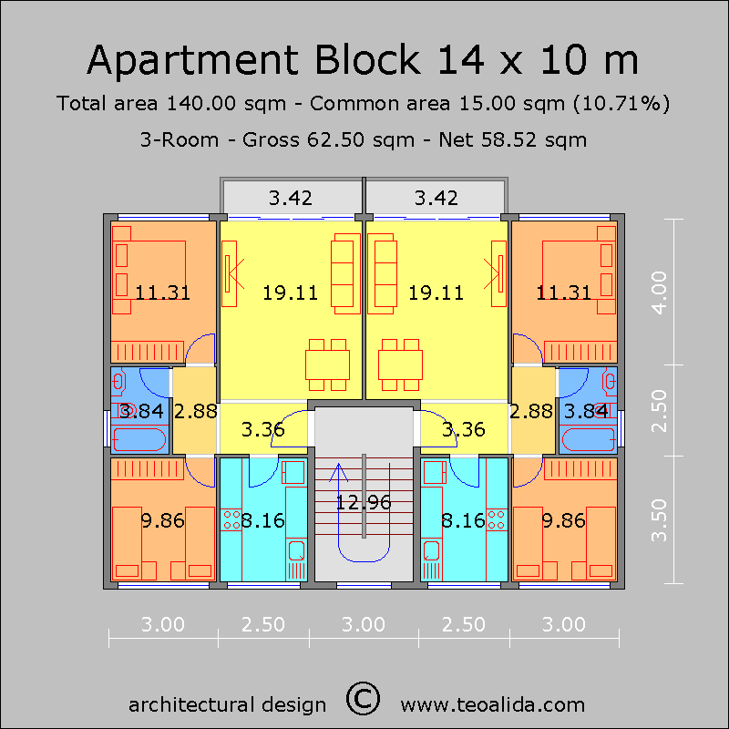 Apartment Plans 30 200 Sqm Designed By Me The World Of Teoalida Condo Floor Plans Small Apartment Building Plans Apartment Plans