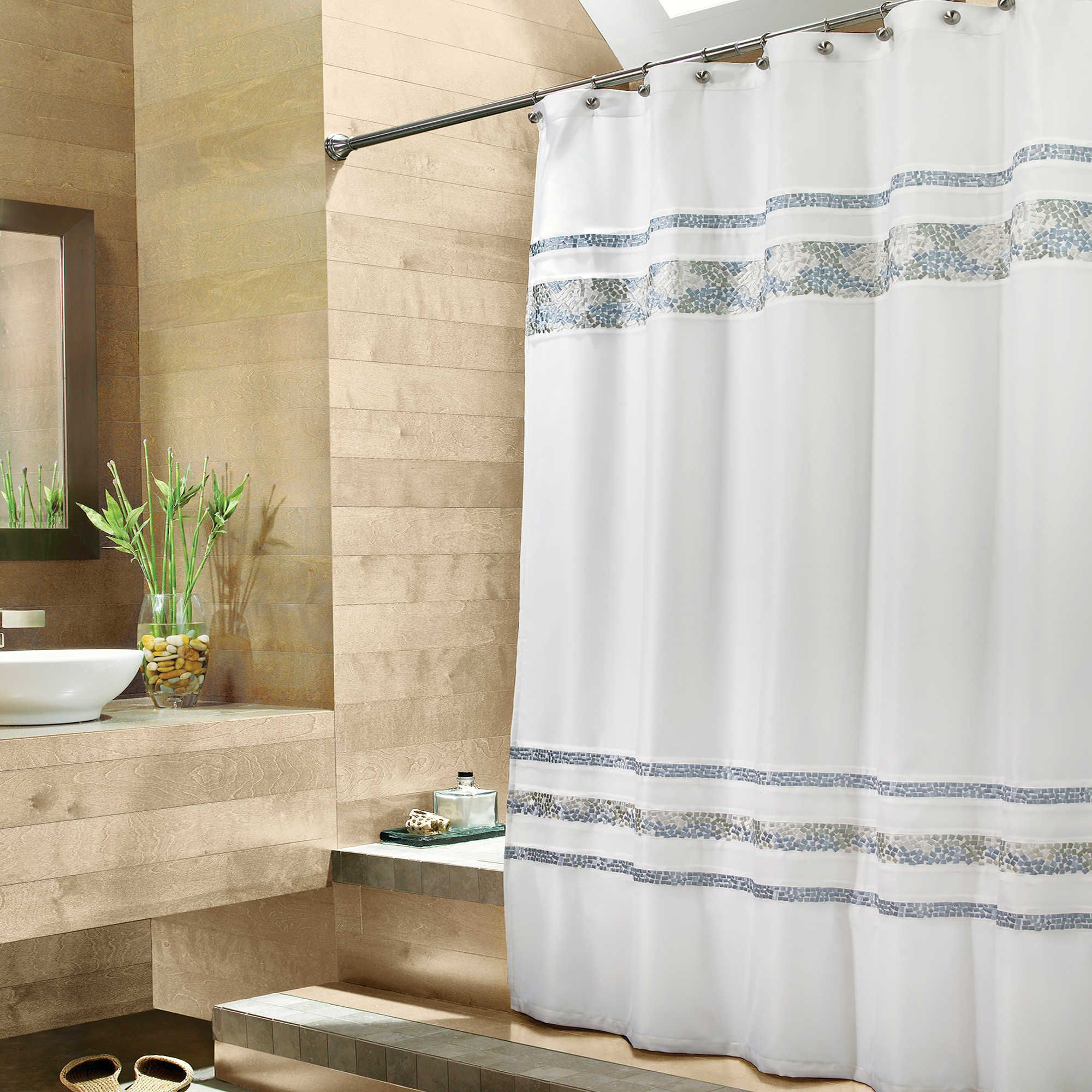 Croscill Reg Spa Tile Fabric Shower Curtain Spa Tile Fabric