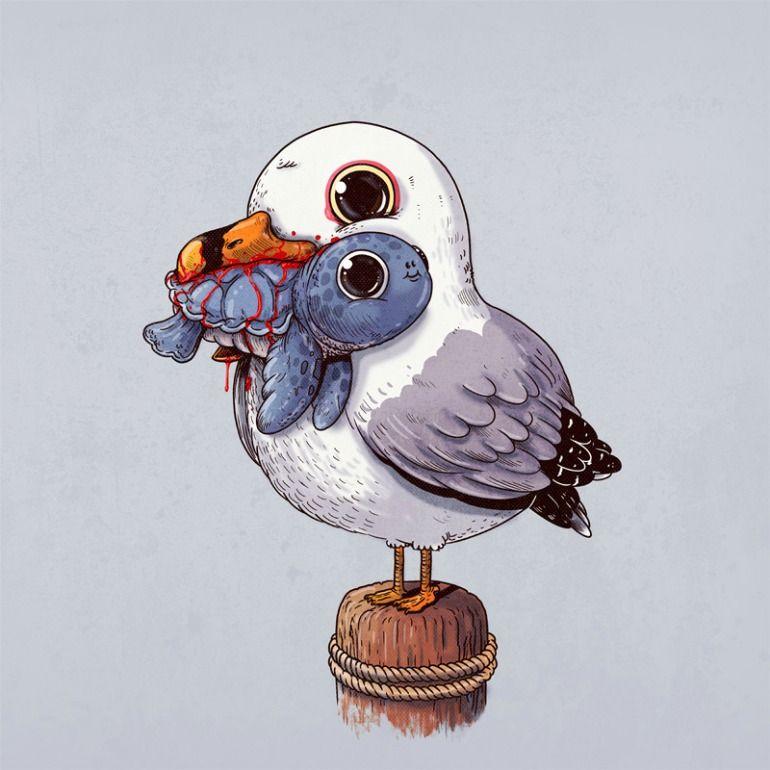 La Adorable Cruda Realidad Del Mundo Animal Social Underground Dibujos De Animales Dibujos Bonitos De Animales Dibujar Caricaturas