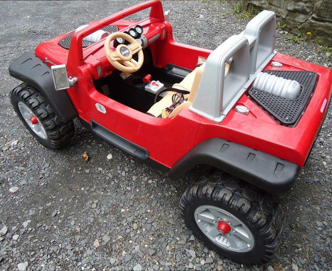 Red Jeep Hurricane Power Wheels Ride On Toy Kids Ride On Toys