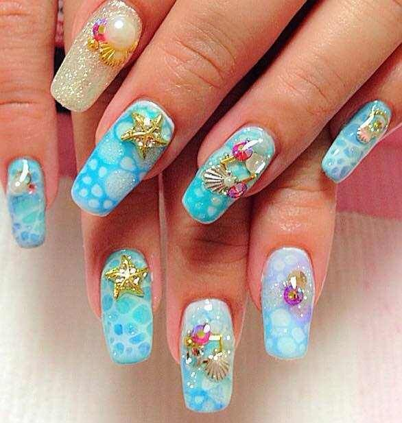 lovely nail art designs 2016 - style you 7 | aquatic nails ...