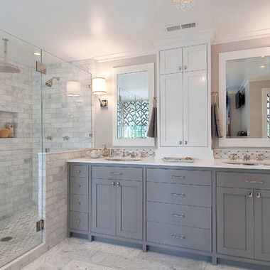 Gray and white bathroom design ideas pictures remodel for White bathroom ideas photo gallery