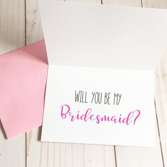 Bridesmaid Card For Sister, Will You Be My Maid Of Honor