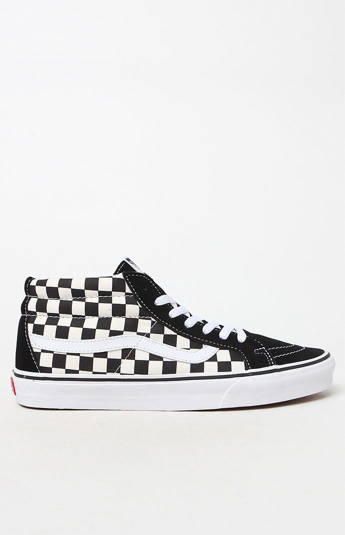 Vans Sk8 Mid Reissue Checkerboard Shoes 11 | Checkered