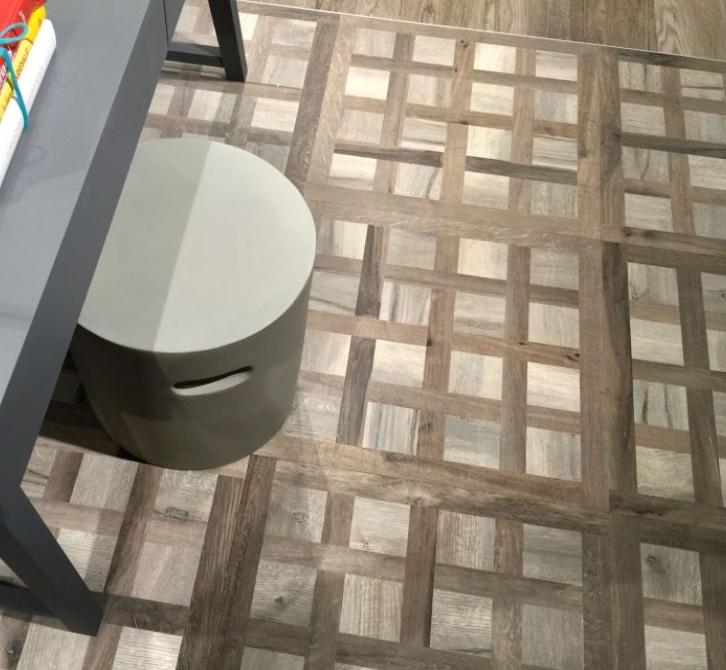 Continental Kuni Intarsi AT Almond/Brown Floor Tiles - 600x600mm ...