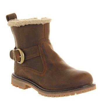 Timberland Nellie Biker Womens Ankle Boots Medium Brown