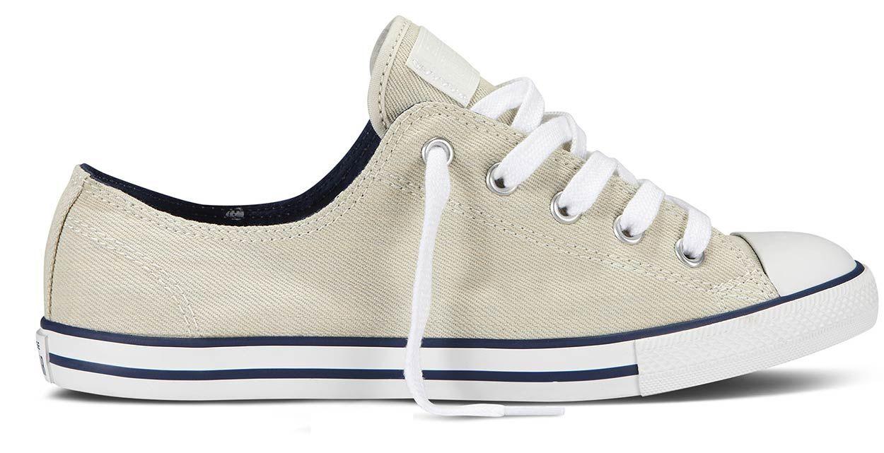 Converse Damen Chucks Sneaker As Dainty Ox Schwarz Weiß Grau Rot Slim Light  Neu